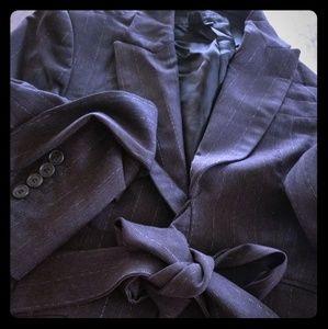 Zara Dark Grey Pinstripe Jacket Size 6
